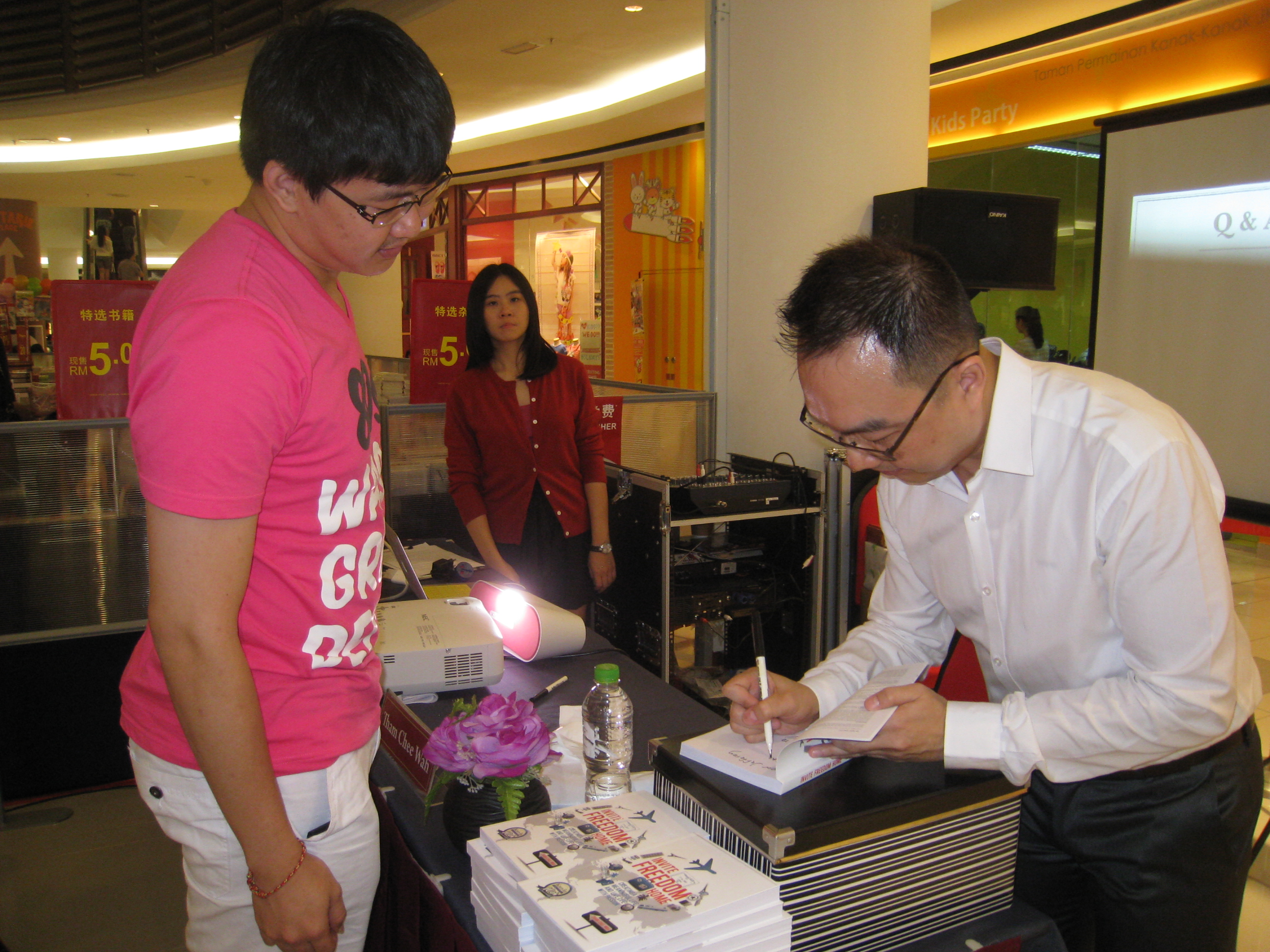 Book Promotion at Paradigm Mall